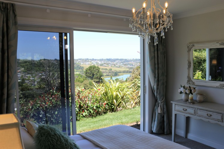 Luxurious sheets, chandeliers and views from both bedrooms