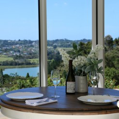 Dine with the spacious views or city lights