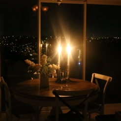 Dining -candle lit dinner in overlooking the lights