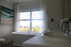 Double bath with amazing privacy and views