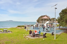 Browns Bay playground - ideal for familes before going to a cafe or playing on the beach - about 10 minutes drive